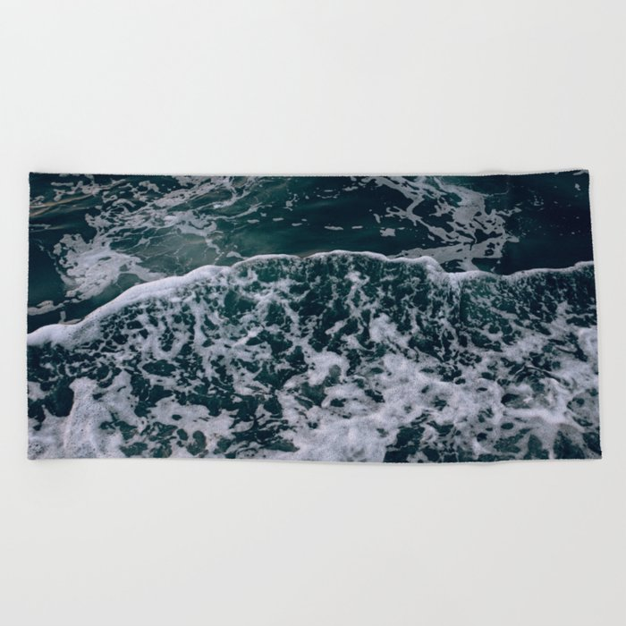 Waves and me Beach Towel