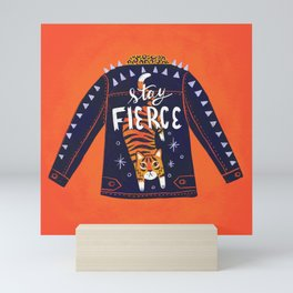 Stay Fierce Tiger Jacket Mini Art Print