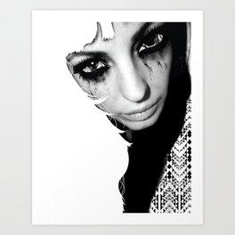 Crazy Eyez Art Print