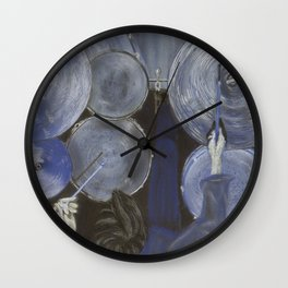 Drums the blues Wall Clock