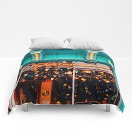 Cafe & Lights - Istanbul, Turkey Comforters