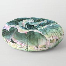 Echeveria Passion Floor Pillow