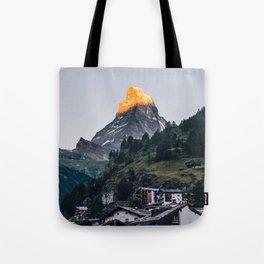 Beautiful Matterhorn in Sunrise Tote Bag