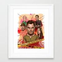 dexter Framed Art Prints featuring Dexter by Nithin Rao Kumblekar
