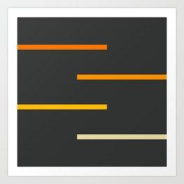 Abstract Minimal Retro Stripes Ashtanga Kunstdrucke