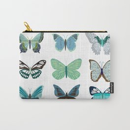 Green and Blue Butterflies Carry-All Pouch