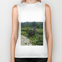 cape cod Biker Tanks featuring Cape Cod Bramble by JezRebelle