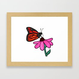 Cross-Hatch Monarch Framed Art Print