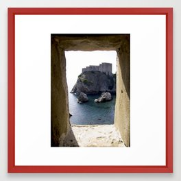 View from the Walls of Dubrovnik Framed Art Print