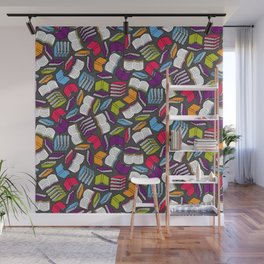 So Many Colorful Books... Wall Mural