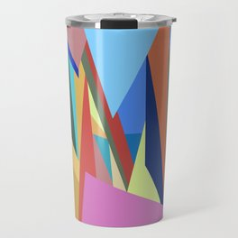 Colorful Triangle Pattern Travel Mug