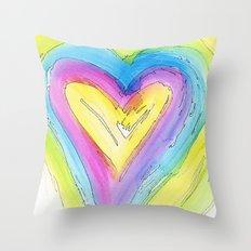 Spring Heart Throw Pillow