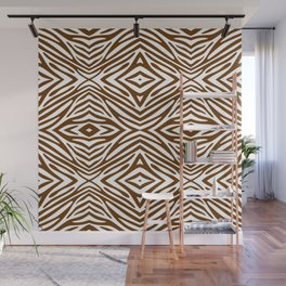 Nutmeg Neutral Zebra Wall Mural
