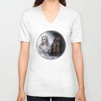 ying yang V-neck T-shirts featuring Ying Yang by daekazu