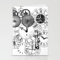 clockwork Stationery Cards featuring Clockwork by VectoriaDesigns
