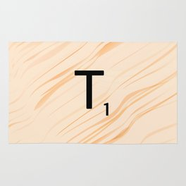Scrabble Letter T - Large Scrabble Tiles Rug