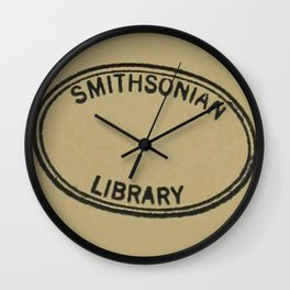 Smithsonian library stamp Wall Clock