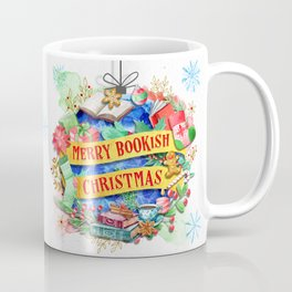 Merry Bookish Christmas Coffee Mug