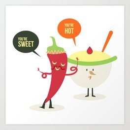 Complimentary - HOT AND SWEET Art Print
