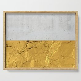 Gold Foil and Concrete Serving Tray