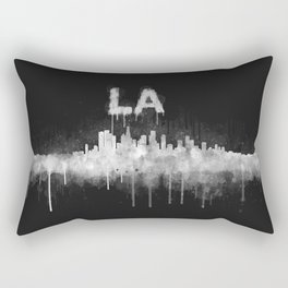Los Angeles City Skyline HQ v5 WB Rectangular Pillow