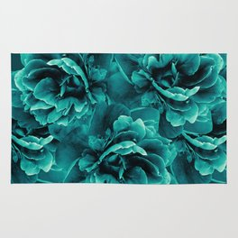 Turquoise Peony Flower Bouquet #1 #floral #decor #art #society6 Rug