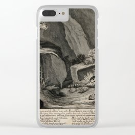 Two tigers and their cubs in a rocky landscape. Etching by J.E. Ridinger.  1698-1767 Clear iPhone Case