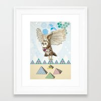 journey Framed Art Prints featuring Journey by Jo Cheung Illustration