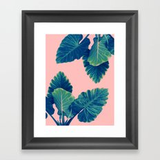 Greenery on Blush Framed Art Print