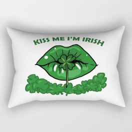 St Patricks Day For Women Green Lips Shamrock Gift Rectangular Pillow