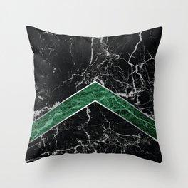 Arrows - Black Granite & Green Granite #269 Throw Pillow