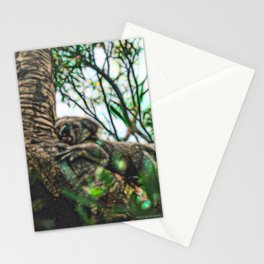 An exhausting day in the bush - Koala Stationery Cards