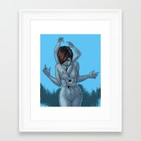 "inner demons Framed Art Prints featuring ""Inner Demons"" by Lily Fu"
