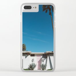 Palm Springs Pink Door Clear iPhone Case