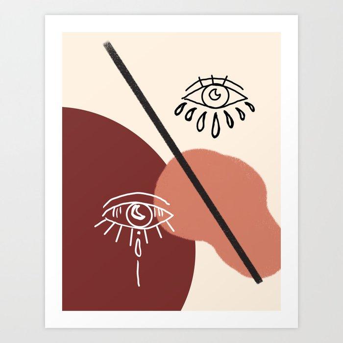 Abstract Evil Eye Art Print