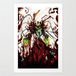 Hells Wrath Art Print