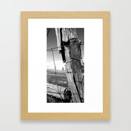 Sturdy Post Framed Art Print