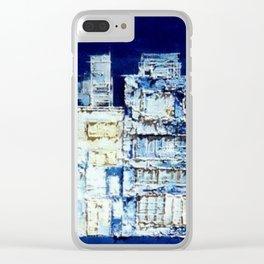 Suburban Buildings Clear iPhone Case