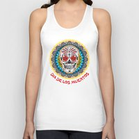 day of the dead Tank Tops featuring Day of the Dead by Gary Grayson