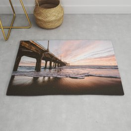 MANHATTAN BEACH PIER Rug