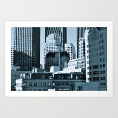 Urban Shades of Gray Art Print
