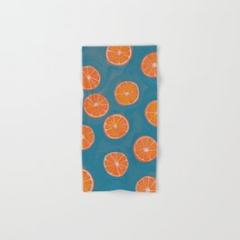 hand-painted california orange slices Hand & Bath Towel