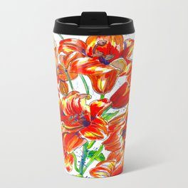 Bright Red Metal Travel Mug