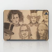 johnny depp iPad Cases featuring Johnny Depp by Virginieferreux