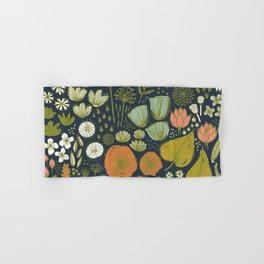 Botanical Sketchbook M+M Navy by Friztin Hand & Bath Towel