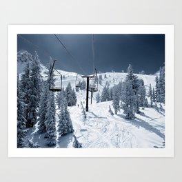 Mammoth Mountain: Chair 12 Art Print