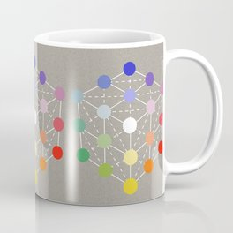 Colour cube (white point) from the Manual of the science of colour by W. Benson, 1871, Remake Coffee Mug