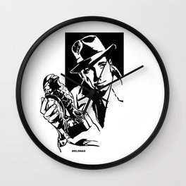 The Maltese Falcon by Peter Melonas Wall Clock