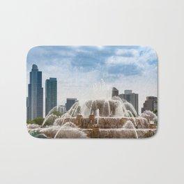 Buckingham Fountain In Chicago Bath Mat