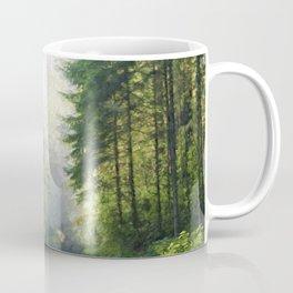 Empty Forest Road Coffee Mug